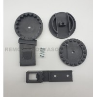 Регулятор-трещетка капюшона (комплект) для колясок Anex/Noordi цвет серый