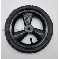 Колесо надувное 10 дюймов трехспицевое черное (50х160) тип 10