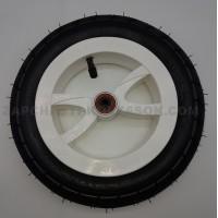 Колесо надувное переднее 10 дюймов для польских колясок тип 5 Белое