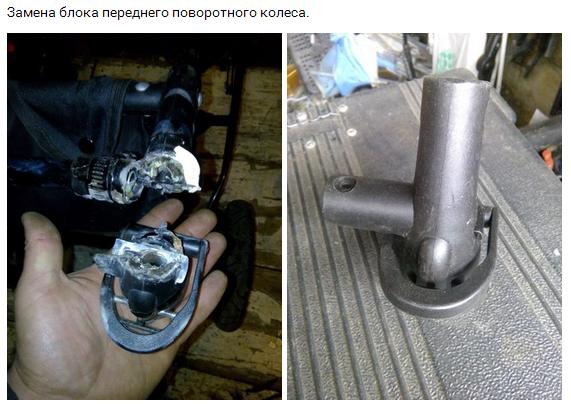 ремонт поворотного колеса