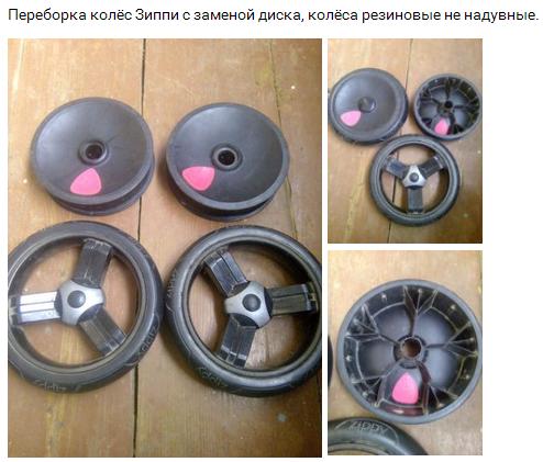 ремонт колеса тутис зиппи