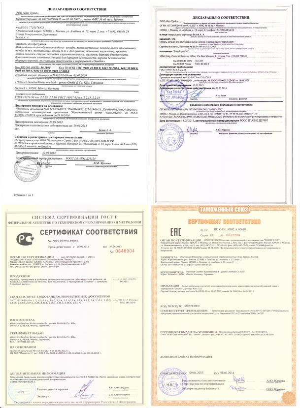фото сертификата на коляску