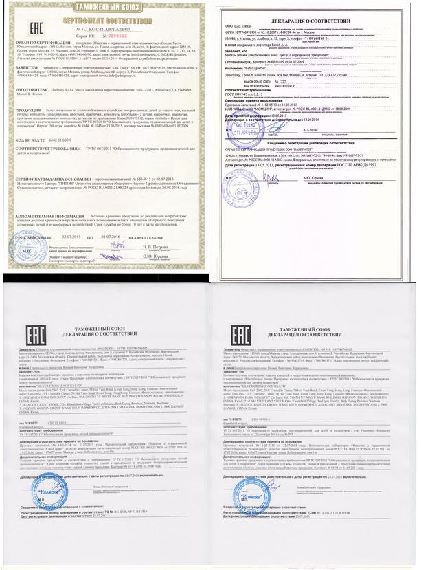 фото сертификата на детали